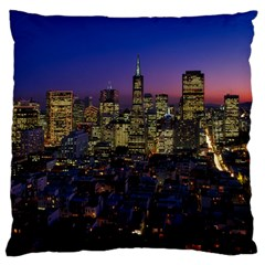 San Francisco California City Urban Standard Flano Cushion Case (one Side)