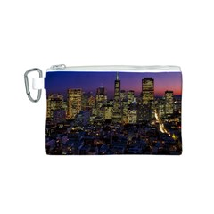 San Francisco California City Urban Canvas Cosmetic Bag (s)