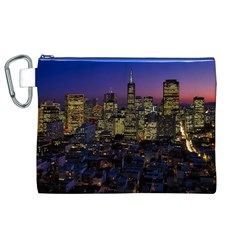 San Francisco California City Urban Canvas Cosmetic Bag (xl)