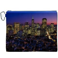 San Francisco California City Urban Canvas Cosmetic Bag (xxxl)