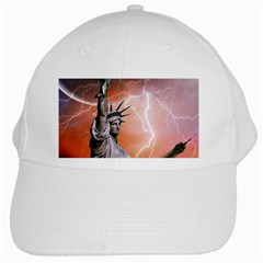 Statue Of Liberty New York White Cap