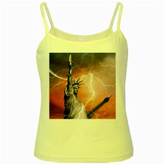 Statue Of Liberty New York Yellow Spaghetti Tank
