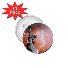 Statue Of Liberty New York 1 75  Buttons (10 Pack)