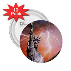 Statue Of Liberty New York 2 25  Buttons (10 Pack)