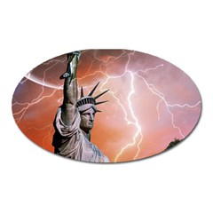 Statue Of Liberty New York Oval Magnet