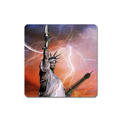 Statue Of Liberty New York Square Magnet