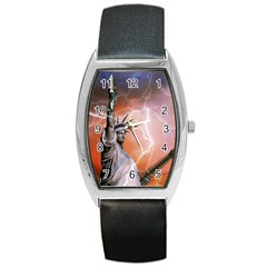 Statue Of Liberty New York Barrel Style Metal Watch