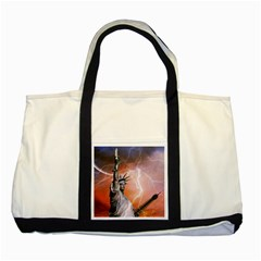 Statue Of Liberty New York Two Tone Tote Bag