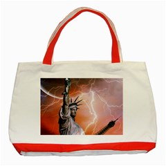 Statue Of Liberty New York Classic Tote Bag (red)