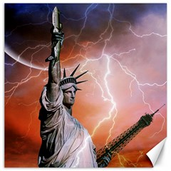Statue Of Liberty New York Canvas 12  X 12