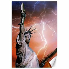Statue Of Liberty New York Canvas 12  X 18