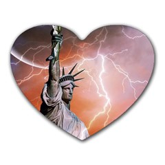 Statue Of Liberty New York Heart Mousepads