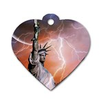 Statue Of Liberty New York Dog Tag Heart (One Side) Front