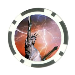 Statue Of Liberty New York Poker Chip Card Guard