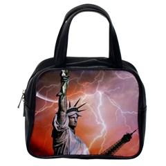 Statue Of Liberty New York Classic Handbags (one Side)