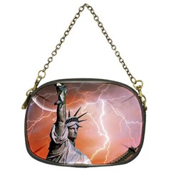 Statue Of Liberty New York Chain Purses (one Side)