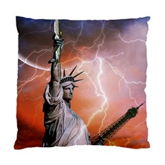 Statue Of Liberty New York Standard Cushion Case (one Side)
