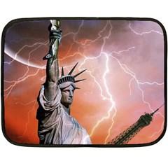 Statue Of Liberty New York Fleece Blanket (mini)