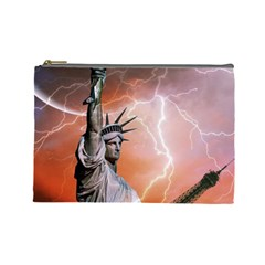Statue Of Liberty New York Cosmetic Bag (large)