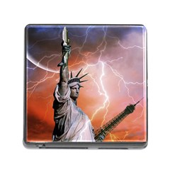 Statue Of Liberty New York Memory Card Reader (square)