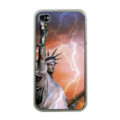 Statue Of Liberty New York Apple Iphone 4 Case (clear)