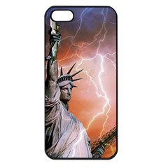 Statue Of Liberty New York Apple Iphone 5 Seamless Case (black)