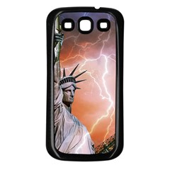 Statue Of Liberty New York Samsung Galaxy S3 Back Case (black)