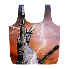 Statue Of Liberty New York Full Print Recycle Bags (l)