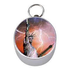 Statue Of Liberty New York Mini Silver Compasses