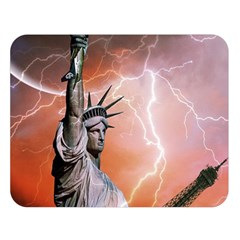 Statue Of Liberty New York Double Sided Flano Blanket (large)