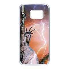 Statue Of Liberty New York Samsung Galaxy S7 White Seamless Case