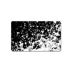 Black And White Splash Texture Magnet (name Card)
