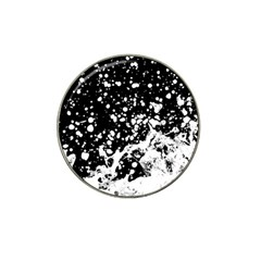 Black And White Splash Texture Hat Clip Ball Marker