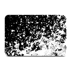 Black And White Splash Texture Plate Mats