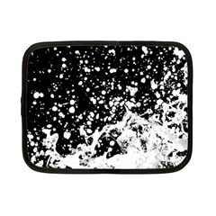 Black And White Splash Texture Netbook Case (small)