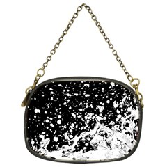 Black And White Splash Texture Chain Purses (one Side)