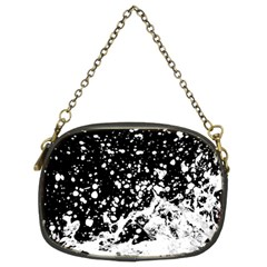 Black And White Splash Texture Chain Purses (two Sides)