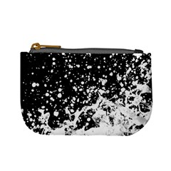 Black And White Splash Texture Mini Coin Purses