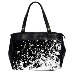Black And White Splash Texture Office Handbags (2 Sides)