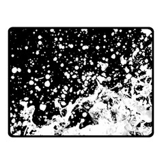 Black And White Splash Texture Double Sided Fleece Blanket (small)