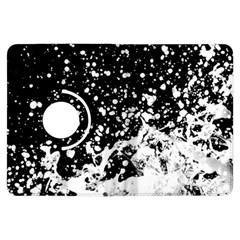 Black And White Splash Texture Kindle Fire Hdx Flip 360 Case