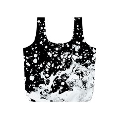 Black And White Splash Texture Full Print Recycle Bags (s)