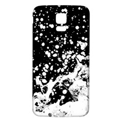 Black And White Splash Texture Samsung Galaxy S5 Back Case (white)