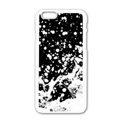 Black And White Splash Texture Apple Iphone 6/6s White Enamel Case