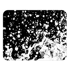 Black And White Splash Texture Double Sided Flano Blanket (large)