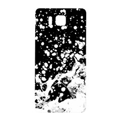 Black And White Splash Texture Samsung Galaxy Alpha Hardshell Back Case