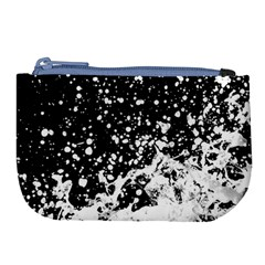 Black And White Splash Texture Large Coin Purse