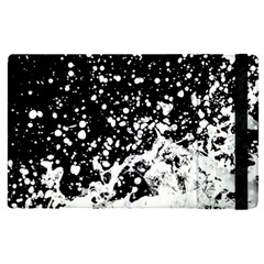 Black And White Splash Texture Apple Ipad Pro 12 9   Flip Case