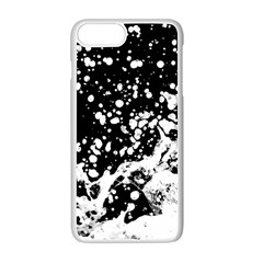 Black And White Splash Texture Apple Iphone 7 Plus White Seamless Case