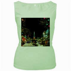 Church Decoration Night Women s Green Tank Top